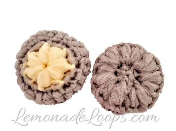 Crochet Pattern Flower Scrubbie Pattern Nylon Tulle Face Pot ...