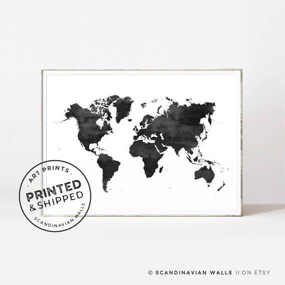 World map world map print world map poster black and white world map world map print world map poster black and white world map black world map watercolor world map scandinavian wall art maps gumiabroncs Images