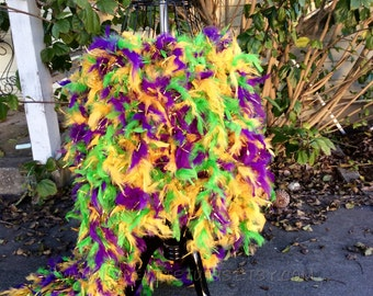 High low feather tutu, mardi gras feather dress, flower girl dress, flower tutu, pageant dress, girls dress, baby dress, girls clothing