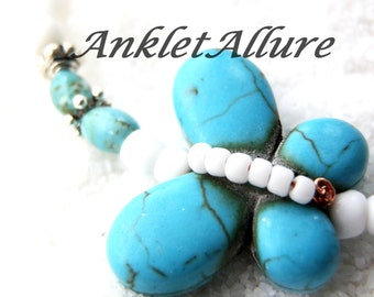 Ankle Bracelet Butterfly Anklet Turquoise Ankle Bracelet Choker Necklace Avail Anklets for Women GUARANTEED