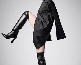 Kimono Dress, Japanese Clothing, Plus Size Dress, Black Dress, Women Dress, Shirt Dress, Gothic Clothing, Long Sleeve Dress, Buttoned Dress