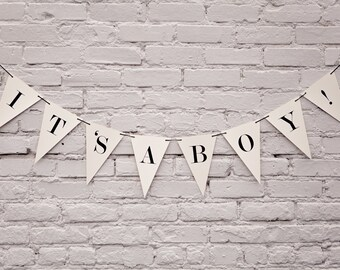 It's A Boy Banner: Triangle