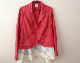 Refashioned Jacket Upcycled Clothing Shabby Romantic Boho Mori Girl Woodland Style Lagenlook Outerwear. Women's Size Large.