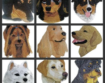 Custom Dog Face Embroidered Iron On Patches