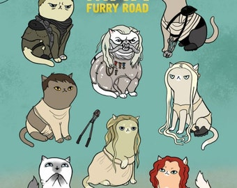 Mad Max: Fury Road Cats - 9x12in. print