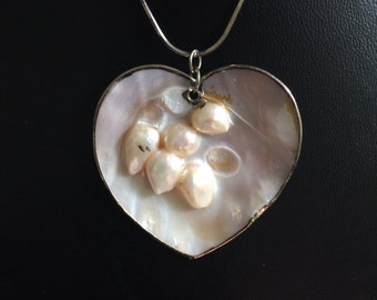 Vintage Mother of Pearl Shell Pendant