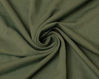 Army Green Rayon Spandex Jersey Knit Fabric by the Yard - 1 Yard Style 409