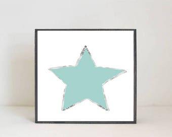 boho nursery, star nursery art, weather nursery, gender neutral baby, wall decor, boho geometric prints, nursery art, redtilestudio