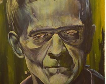 Frankenstein 8x10 Print Universal Monsters Art