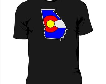 Colorado Flag Georgia State T-Shirt