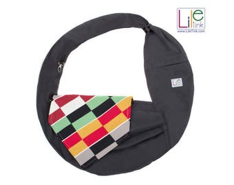 Pet carrier bag/tote/sling for dogs cats, handsfree pet carrier, 100% cotton,  Gifts for Pets, Gifts for Pet Lovers, Dog Sling ||| LileTink