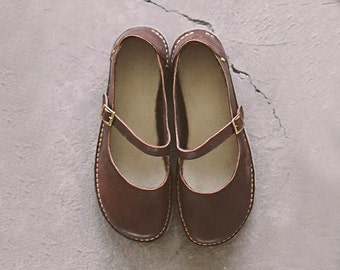 Mary Jane Shoes, Brown Mary Janes, Women Shoes, Flats Shoes, Handmade Shoes, Casual Leather Shoes, Women Leather Shoes, Brown Shoes, Shoes