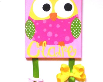 Personalized Owl Bow Holder