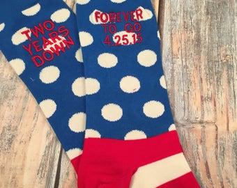 Anniversary Socks - cotton - second anniversary gift - mens dress socks - husband gift - two year anniversary gift - pineapple - fruit gift y92Z9KO