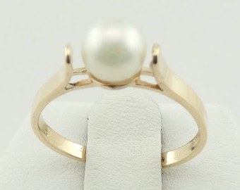 Simple Vintage 14K Gold Pearl Ring FREE SHIPPING!  #SIMPLE2-SR