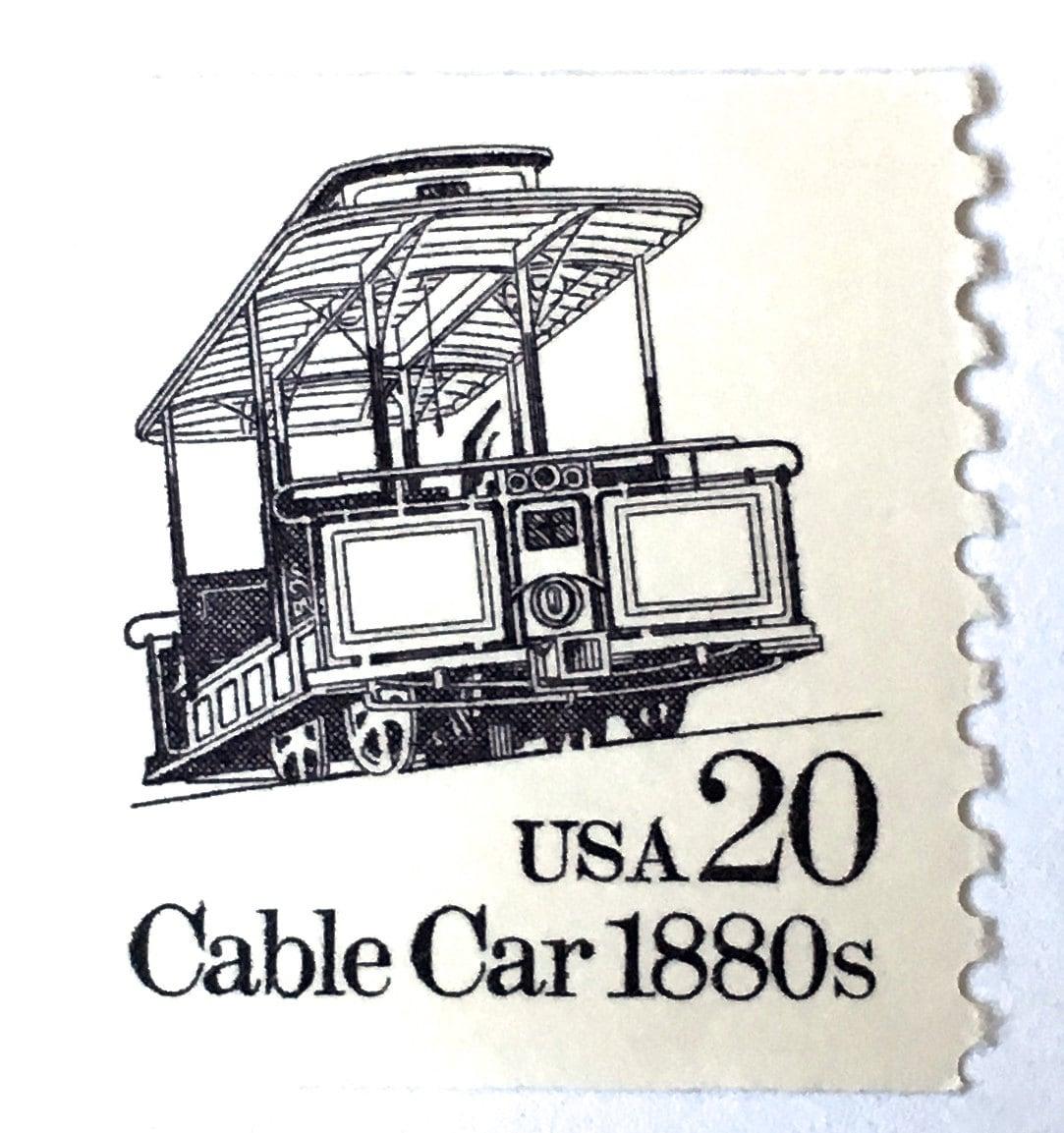 5 Unused Cable Car Stamps // Vintage Street Car // San Francisco ...