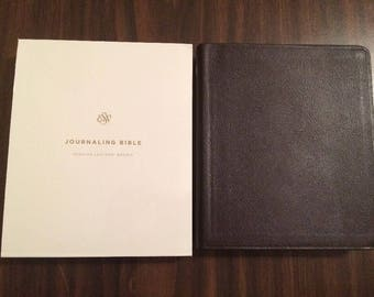PERSONALIZED ** ESV Journaling Bible -  Brown Genuine Leather ** Custom Imprinted