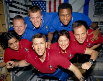 Space Shuttle Columbia STS-107 Crew In-Flight Picture - 5X7, 8X10 or 11X14 NASA Photo (EP-069)