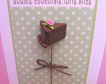 Chocolate Cake Slice Pin Topper