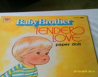 Baby Brother Tender Love Paper Doll