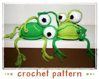 Frog - Shelf Sitter - Crochet Pattern - PDF file - Amigurumi