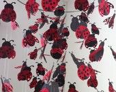Ladybug chandelier Mobile - black and red