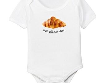 Mon Petit Croissant - My Little Croissant French Organic Cotton Baby Bodysuit
