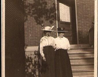Antique Photograph Edwardian Women - Turn of the Century - Early 1900s -Vintage Photo - Edwardian Fashion - 1900s Fashion - Vintage Fashion