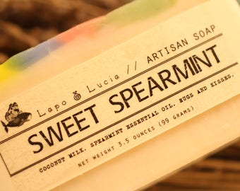 Sweet Spearmint | Artisan Soap | Handmade Soap