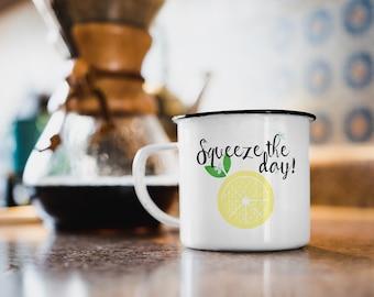 Enamel Mug with lemons