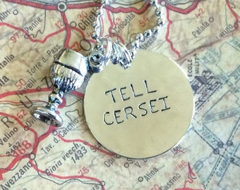 Game of Thrones Tell Cersei necklace