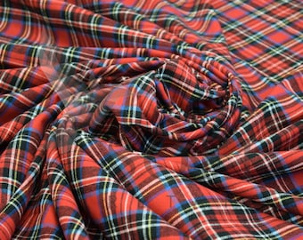 Cotton Flannel Plaid 16 Tartan Fabric by the Yard