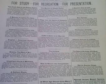 Original Publication of The Literary Digest Sept. 5 1891