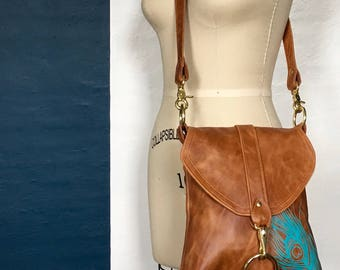 MEDIUM MESSENGER - brown leather bag - custom leather satchel bag - small leather messenger bag - crossbody purse - cross body handbag