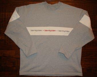 Vintage 90's Bloomingdale's Bloomie's  Grey Sweatshirt L/XL
