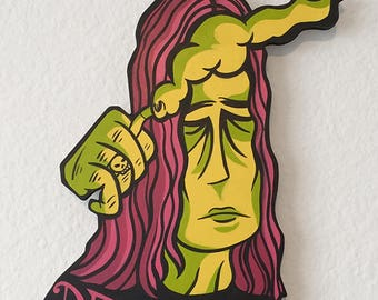 Pretty Little Death Metal Painted Cutout