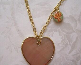 Guardian Angel Heart Necklace