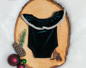 Baby girl Christmas dress, newborn, preemie