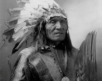 Sioux Native American Portrait, Chief He Dog, American Indian, Indigenous Americans, History, Historical Print, American History, Wall Art
