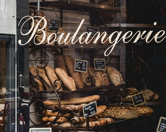 "France Travel Photography, ""Boulangerie Window"", Gallery Wall Art Prints, Home Decor"