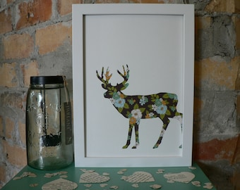 Deer Original Paper Craft Picture