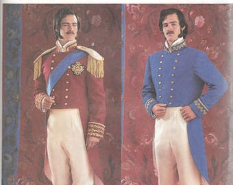 Butterick 3723 Mens 19th Century Military Officer Uniform Costume Pattern Adult Sewing Pattern Size Large Extra Large  Chest 38 - 44  UNCUT