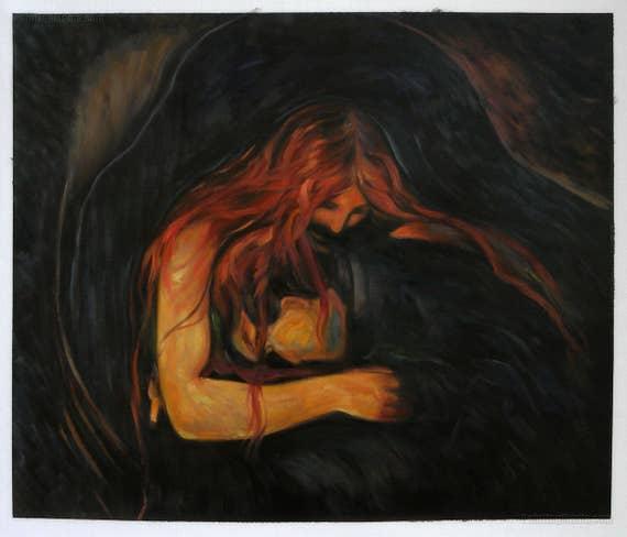 Edvard Munch - Vampire [1895]   Edvard Munch - Vampire ...   Vampire Edvard Munch