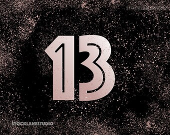 13th birthday party sign, Printable thirteen year old girl's party decor, rose gold glitter bat mitzvah 13, pink black table sign, jpg pdf