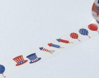 Red White & Blue United States Washi Tape