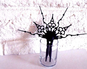 Gothic Hair Stick Ornament- Walking After Midnight