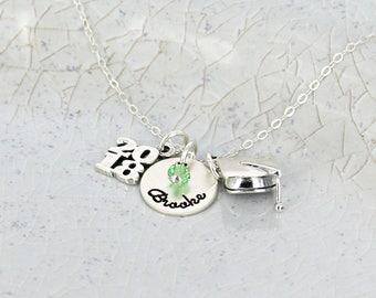 Personalized graduation name necklace • Personalized necklace • Graduation Jewelry • Graduation Necklace • Necklace for high school graduate