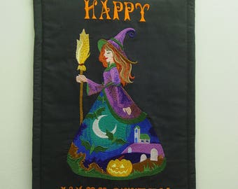 Happy Halloween Witch Wall Hanging