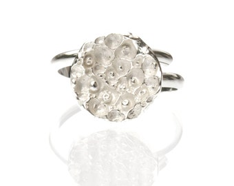 Star Dust sterling silver adjustable ring