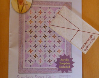 Stars Quilt Pattern and Ruler by Eleanor Burns FREE SHIPPING